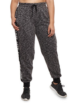 Plus Size Love Graphic Joggers - 3928072291871