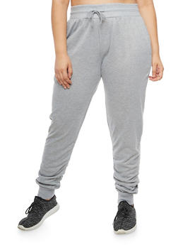 Plus Size Ruched Jogger Pants - 3928072299668