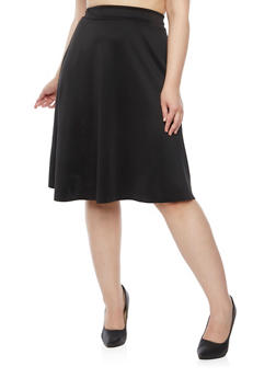 Plus Size A Line Skirt with Box Pleats - 3929020624440