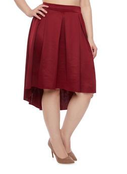 Plus Size A Line Box Pleats Skirt - 3929020624440