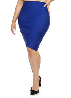 Plus Size Bandage Pencil Skirt - 3929069390078