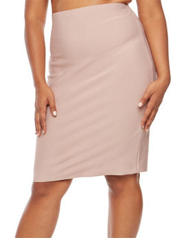 Plus Size Bandage Skirt - 3929069394006