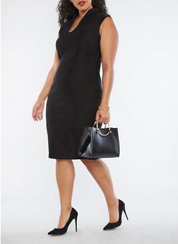 Plus Size Sleeveless Sheath Dress - 3930068510415