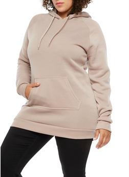 Plus Size Long Sleeve Hooded Sweatshirt - 3930072290021