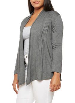 Plus Size Long Sleeve Cardigan - 3932054211242