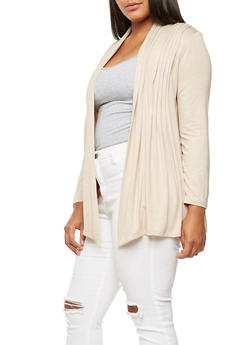 Plus Size Long Sleeve Cardigan - 3932054211242