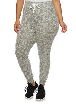 Plus Size Joggers in Plush Knit - 3951001440099