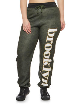 Plus Size Brooklyn Graphic Sweatpants - 3951038342736