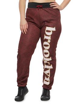 Plus Size Brooklyn Graphic Sweatpants - 3951038342736