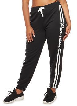 Plus Size Paradise Graphic Sweatpants - 3951038342745