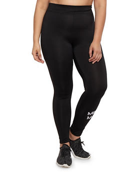 Plus Size Mind Over Matter Graphic Leggings - 3951038347709