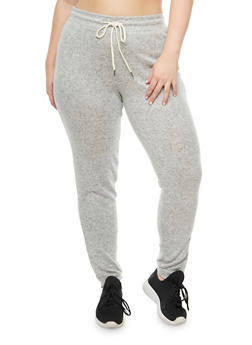 Plus Size Soft Knit Jogger Pants - 3951054266586