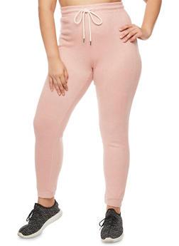 Plus Size Soft Knit Jogger Pants - 3951054266586
