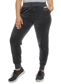 Plus Size Velour Sweatpants - 3951054268904