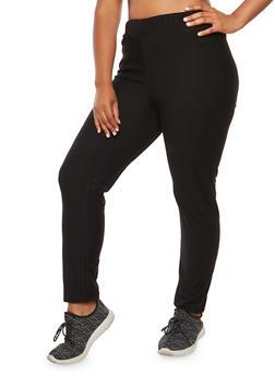 Plus Size Elastic Joggers - 3951058931003
