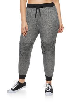 Plus Size Moto Sweatpants - 3961051063588