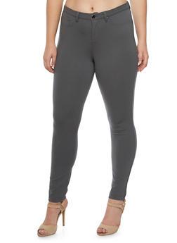 Plus Size Five Pocket Ponte Pants - 3961056570917