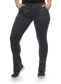 Plus Size French Terry Sweatpants - 3961062702266