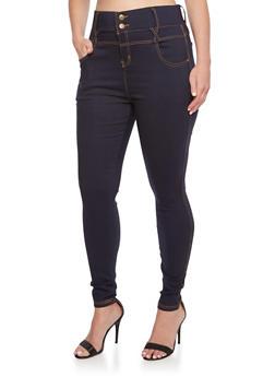 Plus Size Stretch Denim Pants - 3961072715602