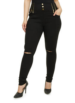Plus Size Jeggings with High Waist - 3961072716770