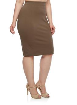Plus Size Ponte Skirt - 3962069390009