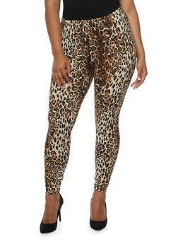 Plus Size Leopard Print Leggings - 3969001440117