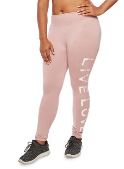 Plus Size Live Love Graphic Leggings - 3969001442991