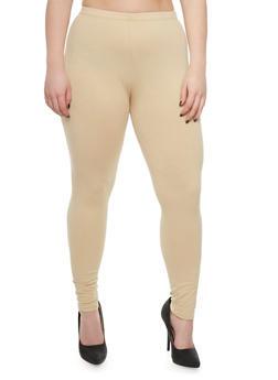 Plus Size Solid Legging - 3969054260011
