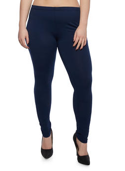Plus Size Solid Legging - 3969054260011