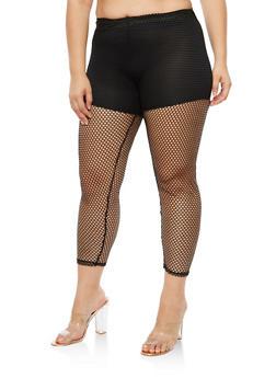 Plus Size Fishnet Pants - 3969058931123