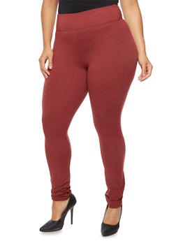 Plus Size High Waisted Leggings - 3969060581250