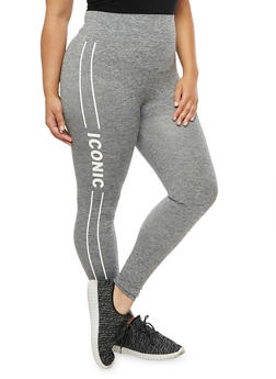 Plus Size Iconic Graphic Activewear Leggings - 3969061634018