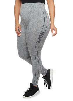 Plus Size Marled Graphic Activewear Leggings - 3969061634418