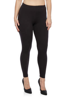Plus Size Basic Leggings - 3969061636009
