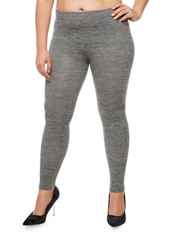 Plus Size Fleece Leggings - 3969061636033
