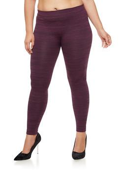 Plus Size Fleece Leggings - 3969061636033