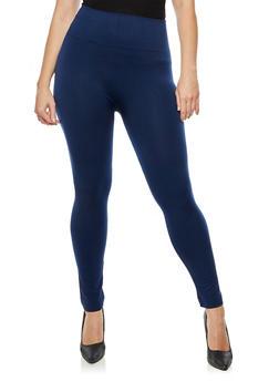 Plus Size Solid Fleece Leggings - 3969061636127