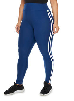 Plus Size Soft Knit Athletic Leggings - 3969061636204