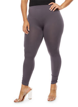 Plus Size Fleece Ruched Leggings - 3969061636207