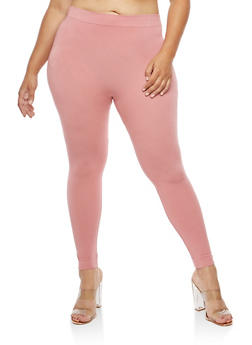 Plus Size Soft Knit Leggings - 3969062900584