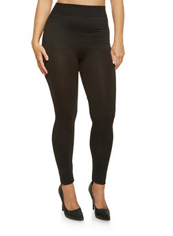 Plus Size Solid Leggings - 3969062901202