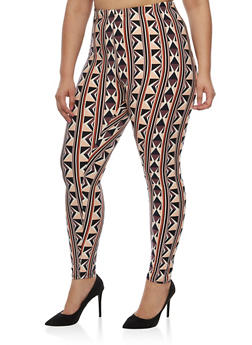 Plus Size Printed Leggings - 3969062907045