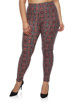 Plus Size Butterfly Leggings - 3969062907071