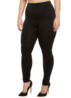 Plus Size Solid Leggings - 3969062909603