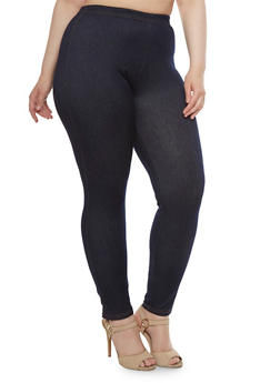 Plus Size Jeggings with Contrast Stitching - 3969072310848