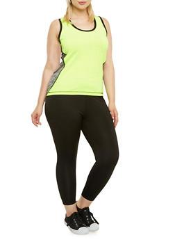 Plus Size Two-Piece Activewear Set - 3985062702833