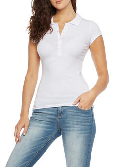 Short Sleve Polo Shirt with Side Slits - 5203054260186