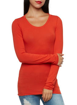 Long Sleeve Top with Scoop Neck - 5204054263800