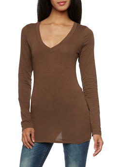 V Neck Top with Long Sleeves - 5204054263900