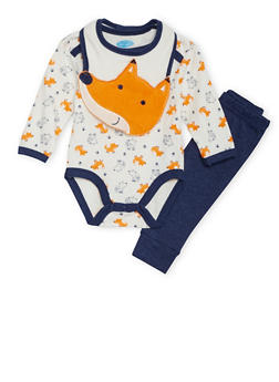 Baby Boy Bodysuit with Joggers and Bib Set - 5506004562470